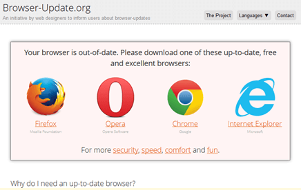 Browser updating dating indian site